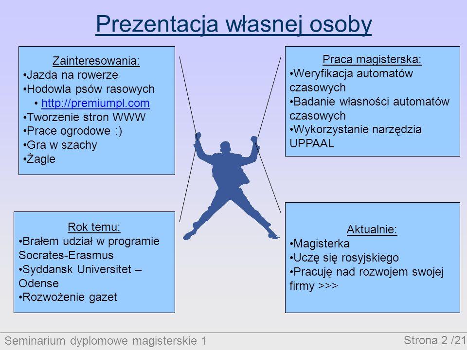 Seminarium dyplomowe magisterskie 1 Strona 13 /21 Przebieg zamówienia