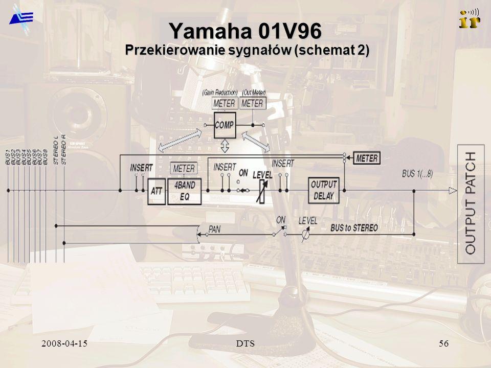 2008-04-15DTS56 Yamaha 01V96 Przekierowanie sygnałów (schemat 2)