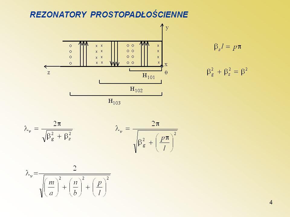 5 y z x H E Rodzaj H 101 Rozkłady pól i prądów przewodzenia
