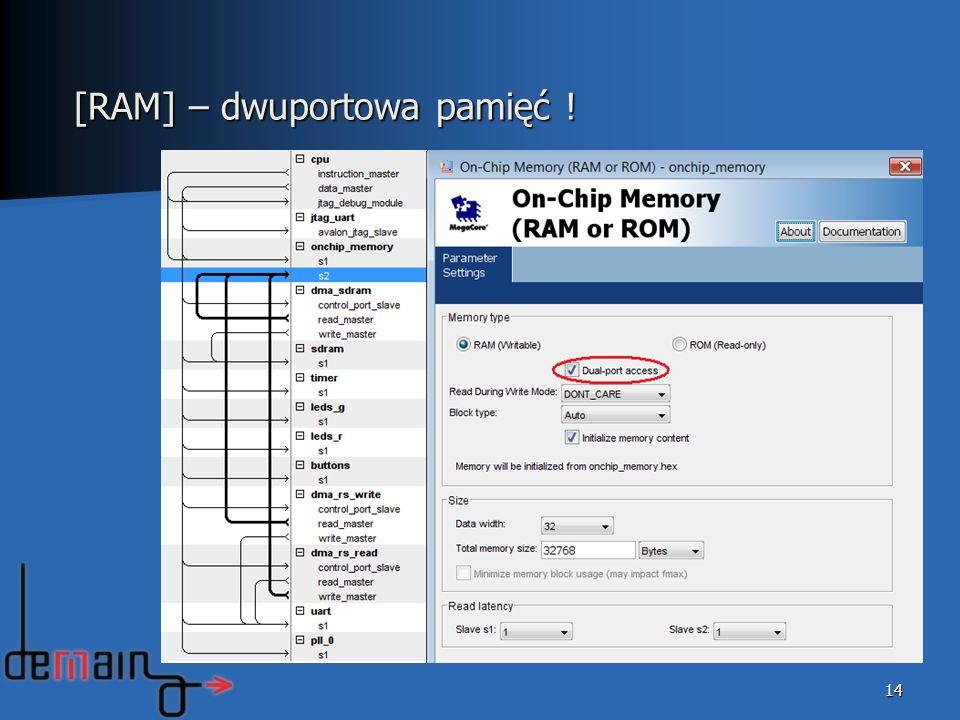 14 [RAM] – dwuportowa pamięć !