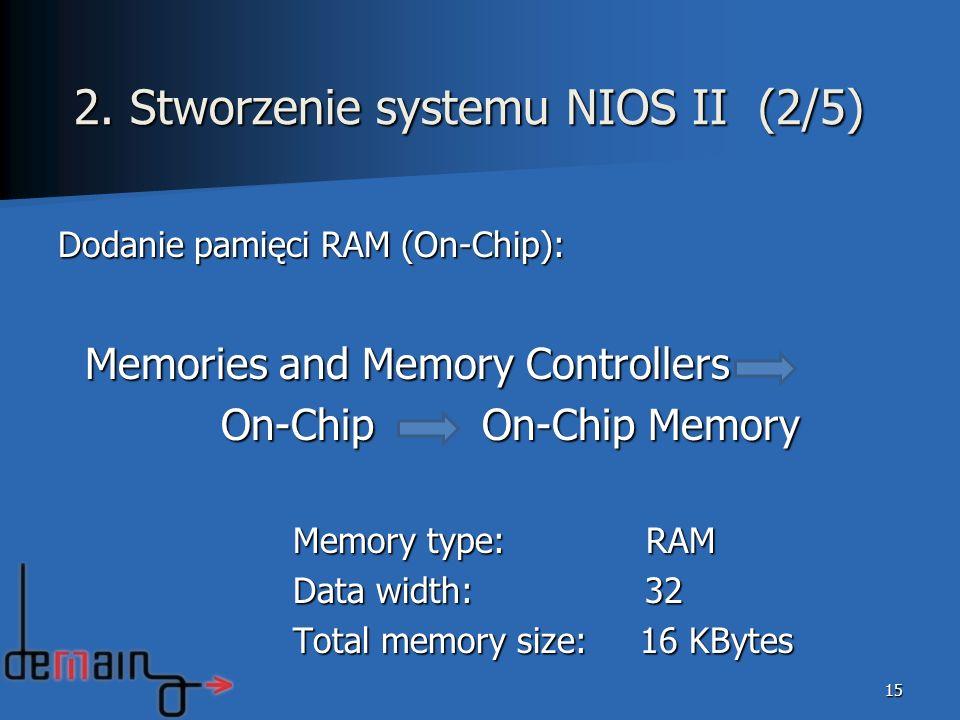 Dodanie pamięci RAM (On-Chip): Memories and Memory Controllers Memories and Memory Controllers On-Chip On-Chip Memory On-Chip On-Chip Memory Memory ty