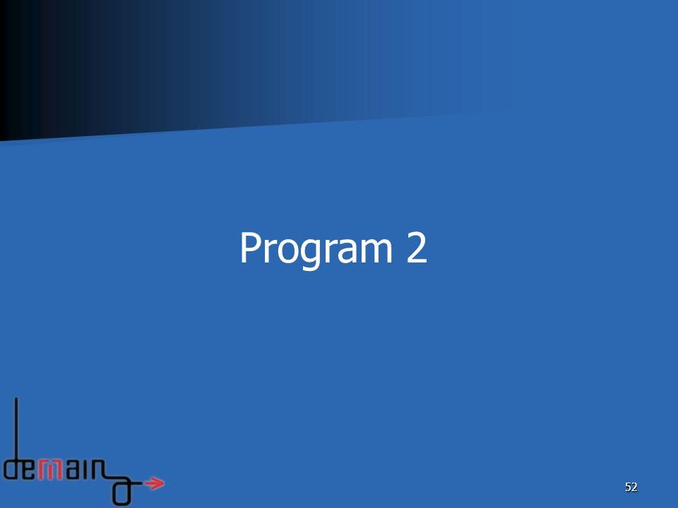 52 Program 2