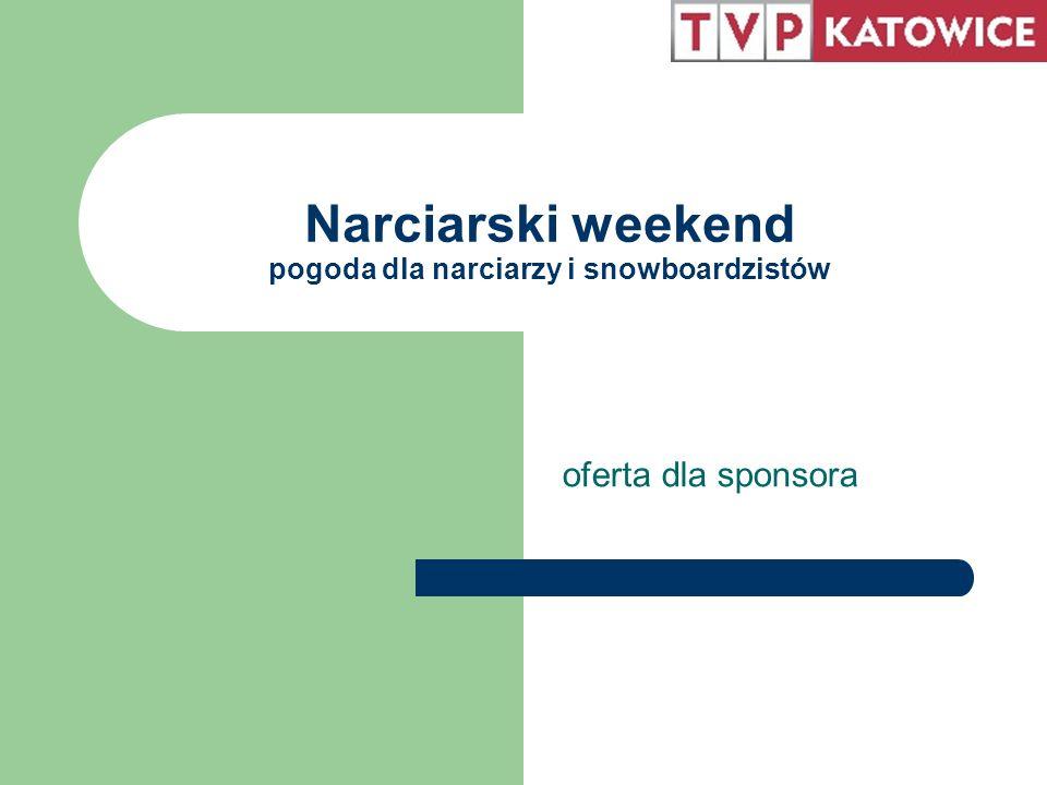 O Narciarskim Weekendzie Cykl programów z prognozą pogody dla narciarzy i snowboardzistów emitowany jest na antenie Telewizji Katowice już od jedenastu sezonów.