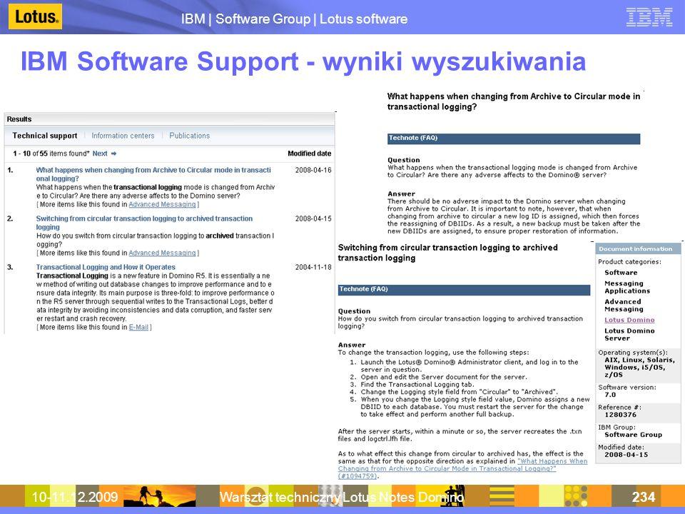 IBM | Software Group | Lotus software 10-11.12.2009Warsztat techniczny Lotus Notes Domino234 IBM Software Support - wyniki wyszukiwania