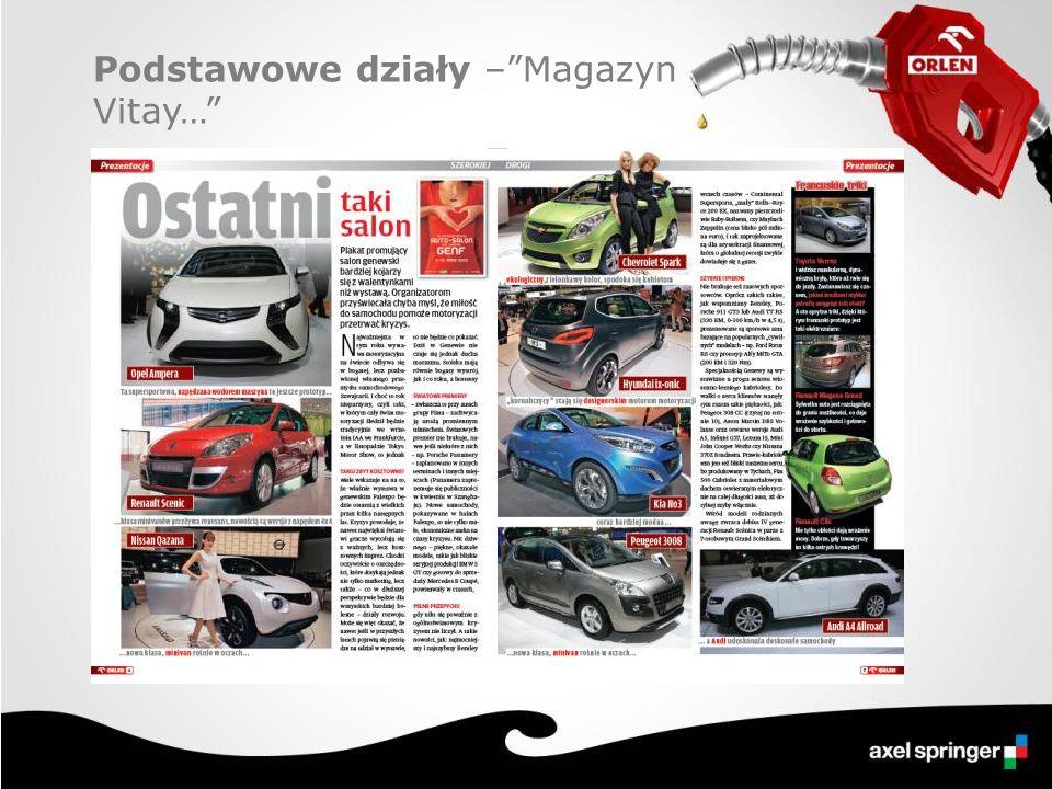 Profil klienta stacji Orlen Planują w najbliższym czasie zakup samochodu 1 strona 1 / 3 strony 1 / 2 strony 1 / 4 strony 50 000 PLN27 500 PLN 1 / 3 strony 20 000 PLN 14 000 PLN Cennik reklam