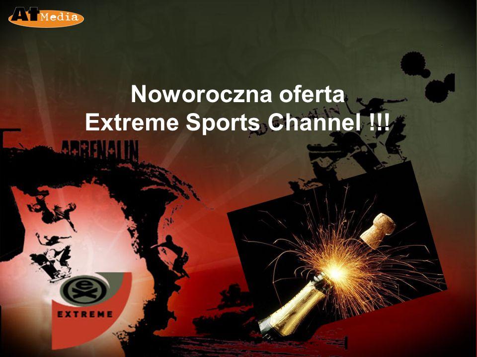 Extreme Sports Channel Kanał Extreme to kanał nadający 24/7, dedykowany sportom ekstremalnym, a także muzyce, modzie i innym tematom z nimi związanym Kanał prezentujący najważniejsze wydarzenia ze świata motocrossu, kolarstwa górskiego, skateboardingu, kiteboardingu oraz ze ś wiata walk Kanał przebojowy, niepokorny i nieszablonowy, ale również radykalny, ekscytujący i unikalny.