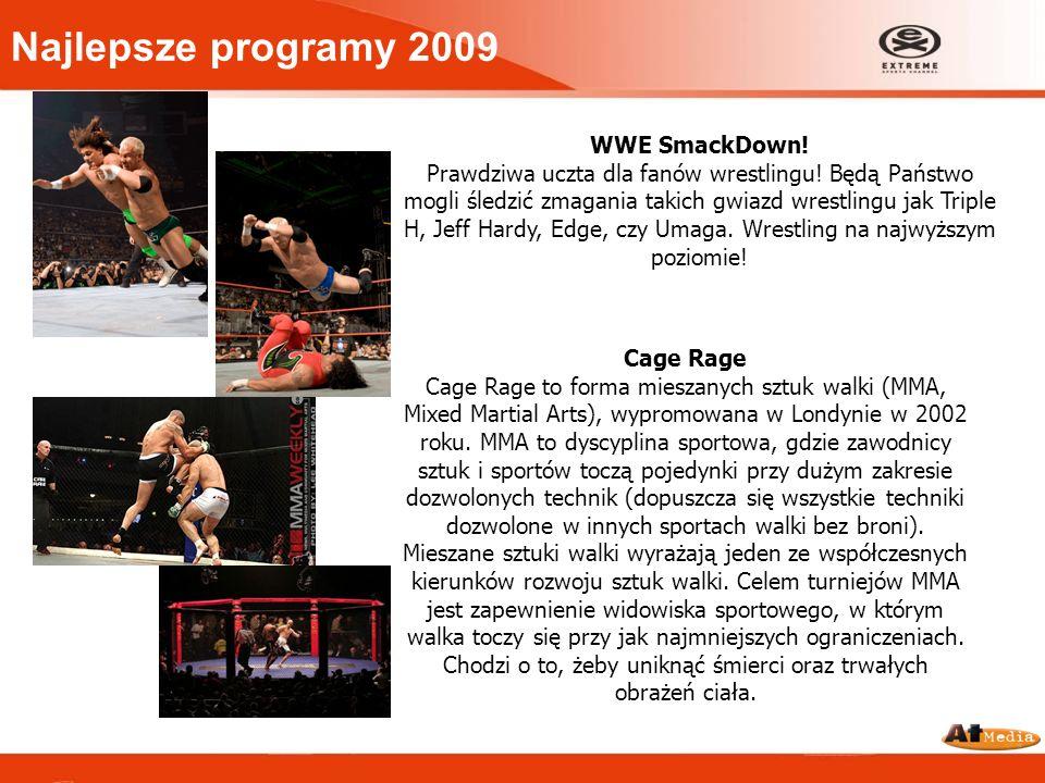 WWE SmackDown! Prawdziwa uczta dla fanów wrestlingu! Będą Państwo mogli śledzić zmagania takich gwiazd wrestlingu jak Triple H, Jeff Hardy, Edge, czy
