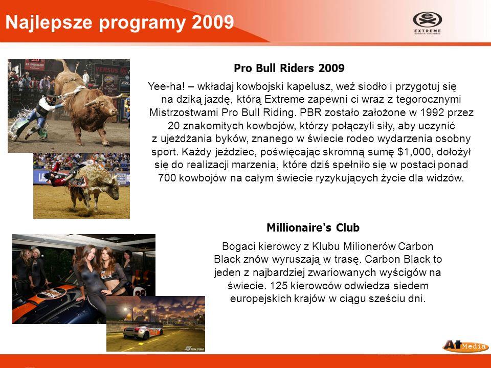 Najlepsze programy 2009 X Games, Asian X Games 2009, Winter X Games X-Games – jedne z najsławniejszych zawodów sportów ekstremalnych obejmujące również międzynarodowe konkursy i dema dookoła świata w ciągu całego roku.