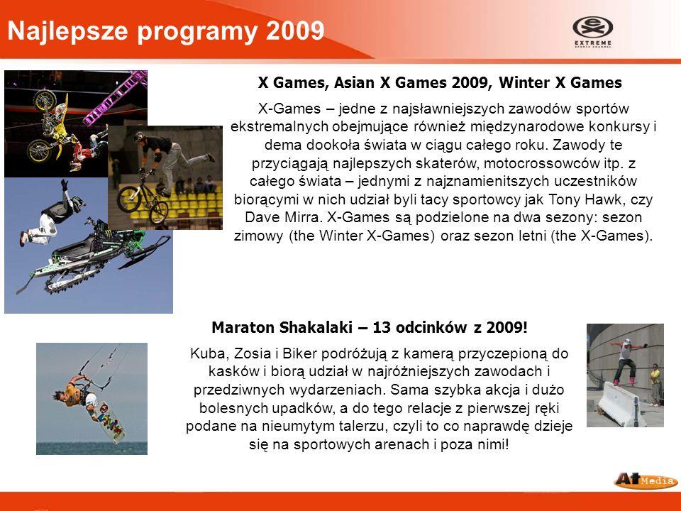 Najlepsze programy 2009 X Games, Asian X Games 2009, Winter X Games X-Games – jedne z najsławniejszych zawodów sportów ekstremalnych obejmujące równie