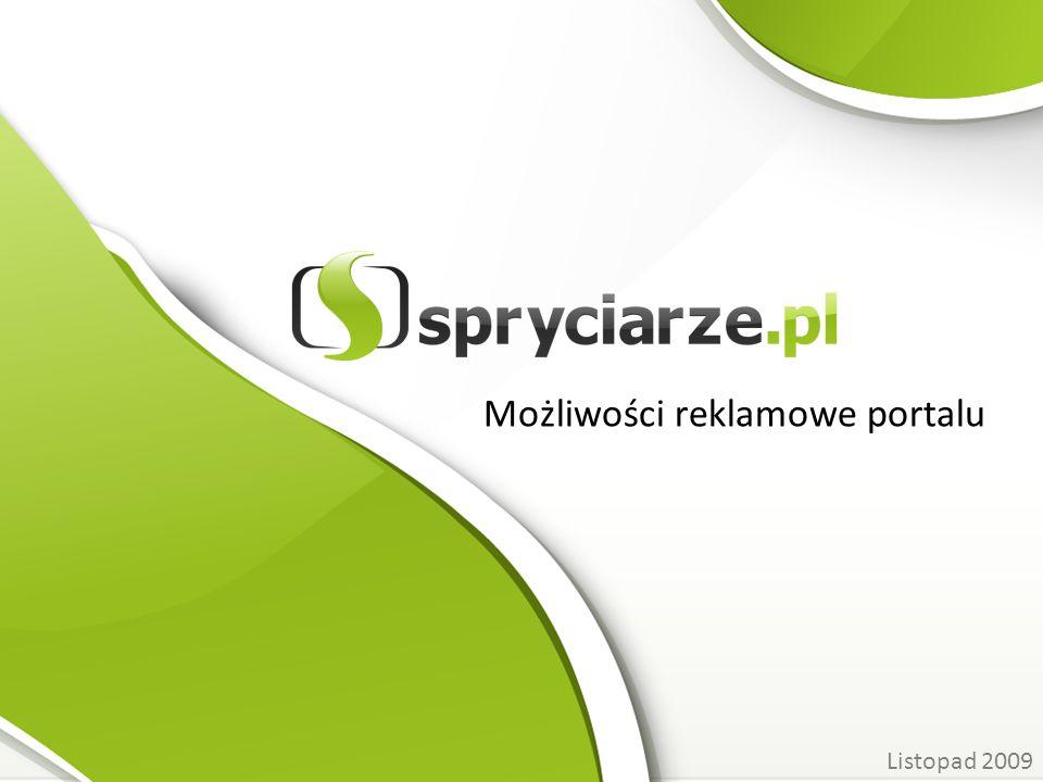 Możliwości reklamowe portalu Listopad 2009