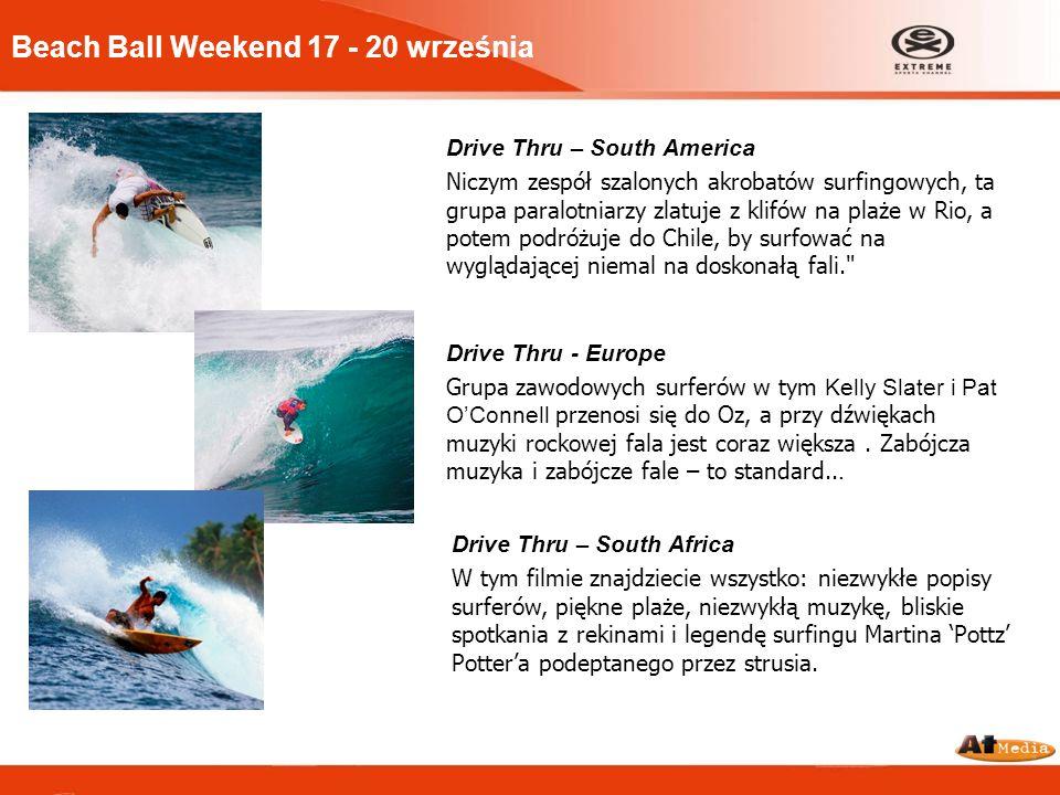 Beach Ball Weekend 17 - 20 września Drive Thru – South America Niczym zespół szalonych akrobatów surfingowych, ta grupa paralotniarzy zlatuje z klifów