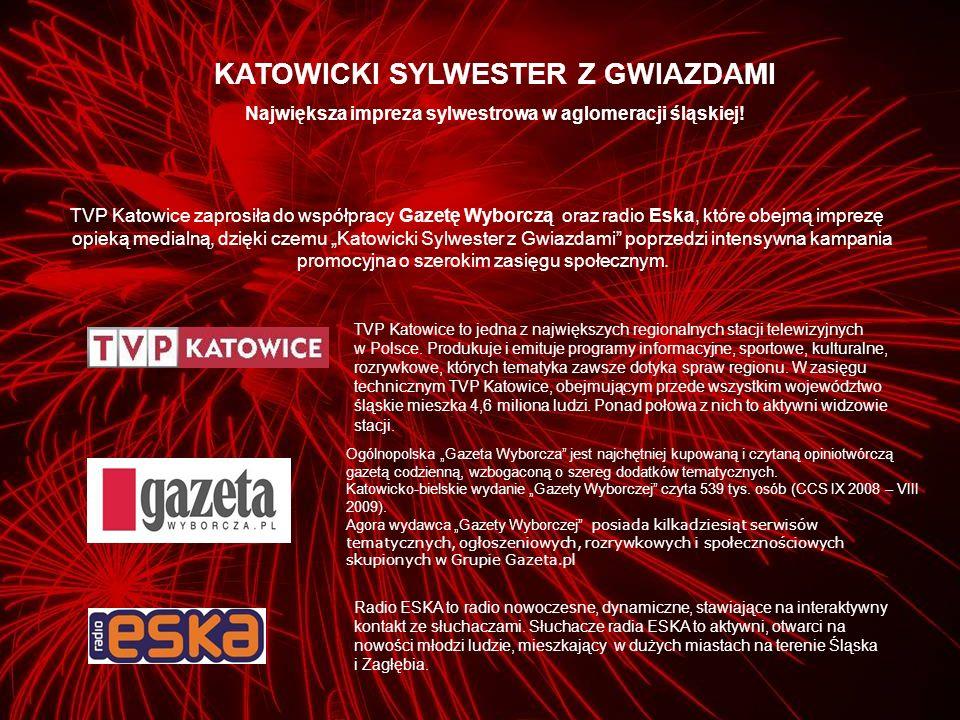 TVP Katowice zaprosiła do współpracy Gazetę Wyborczą oraz radio Eska, które obejmą imprezę opieką medialną, dzięki czemu Katowicki Sylwester z Gwiazda