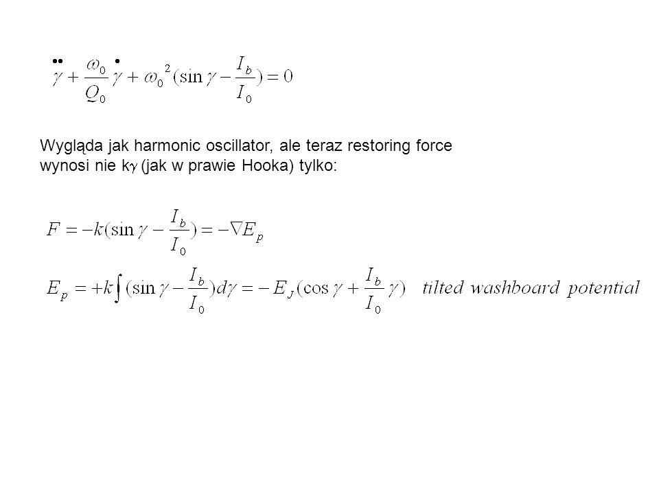 Tilted washboard potential x V/ 0 (napięcie) v (prędkość)