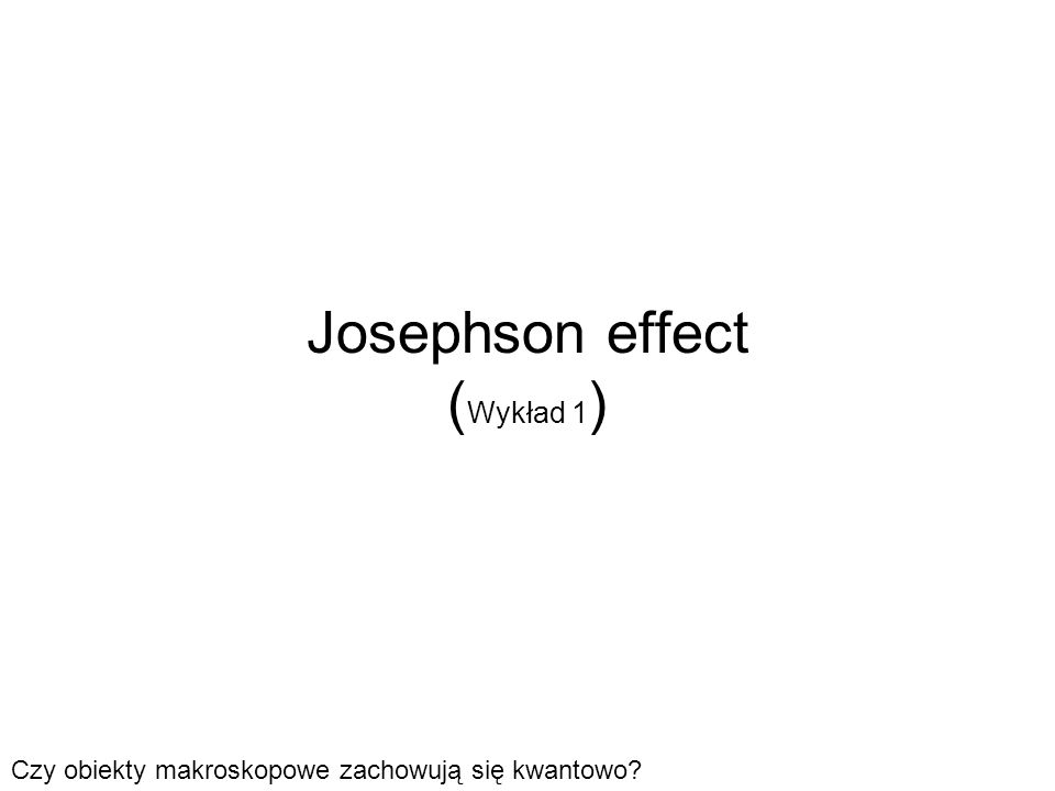 Jak zrobić i zmierzyć JJ? prąd