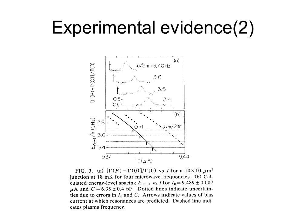 Experimental evidence(2)