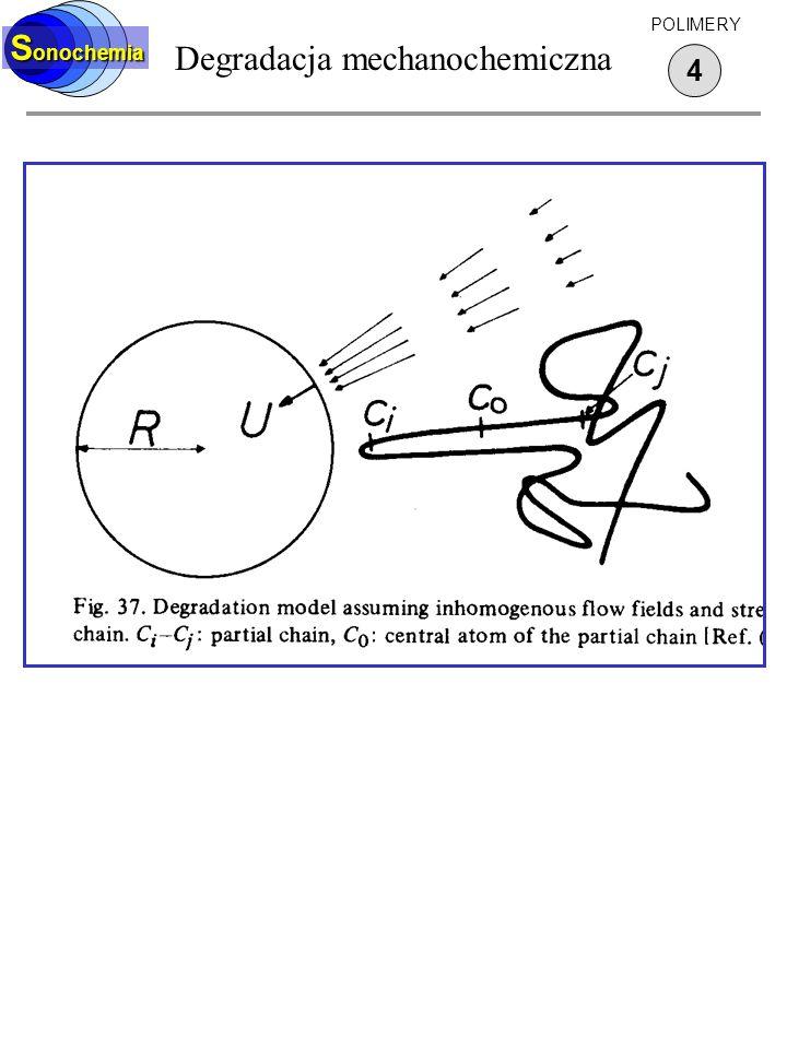 Degradacja mechanochemiczna 4 S onochemia POLIMERY