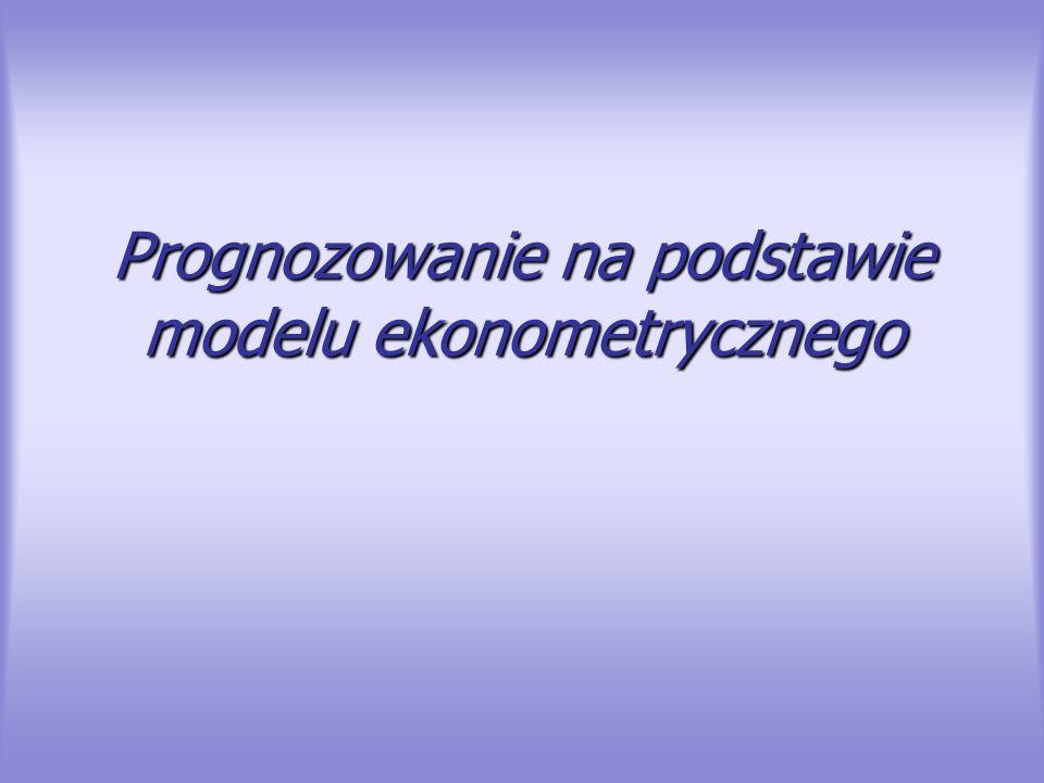 Ocena dopuszczalności prognozy Do oceny dopuszczalności prognoz stosuje się błędy prognoz – bezwzględne lub względne, w miarę możliwości ex ante, ale dla niektórych metod także błędy ex post prognozy wygasłych.