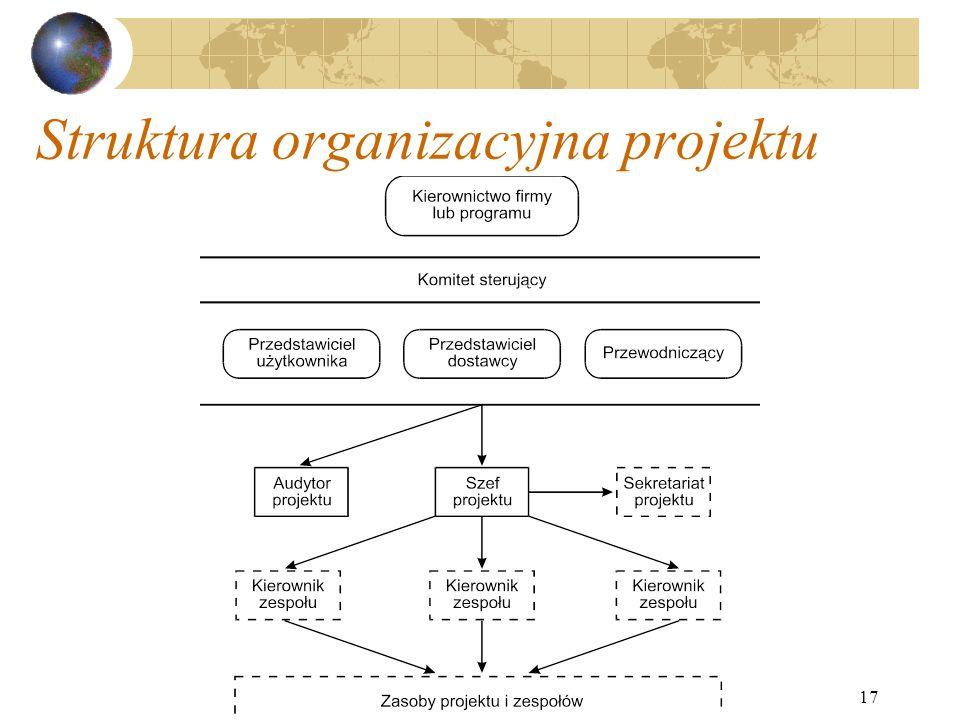17 Struktura organizacyjna projektu