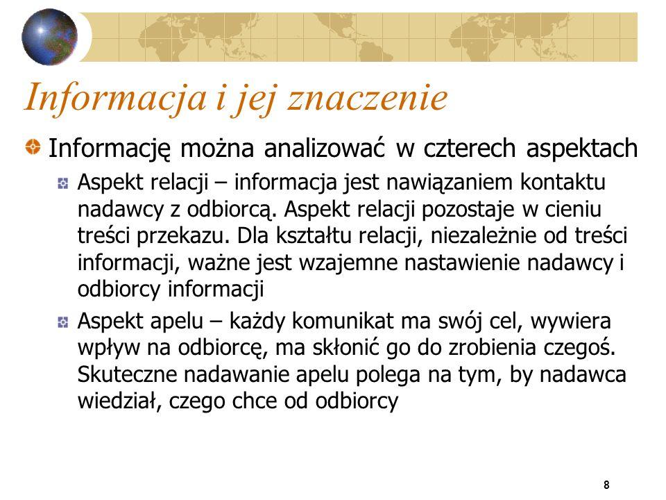 39 Systemy informacyjne - klasyfikacja Inne kryteria podziału systemów: wyróżniki techniczne, tzn.