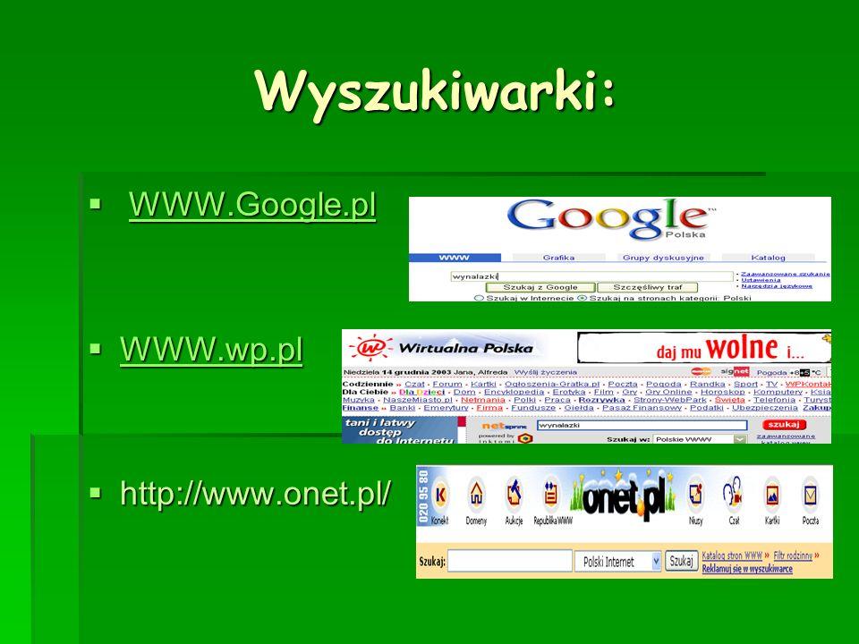 Multiwyszukiwarki Multiprzeglądarka korzysta jednocześnie Multiprzeglądarka korzysta jednocześnie z wielu wyszukiwarek pobierając z nich informacje i przedstawia wynik poszukiwań z wielu wyszukiwarek pobierając z nich informacje i przedstawia wynik poszukiwań