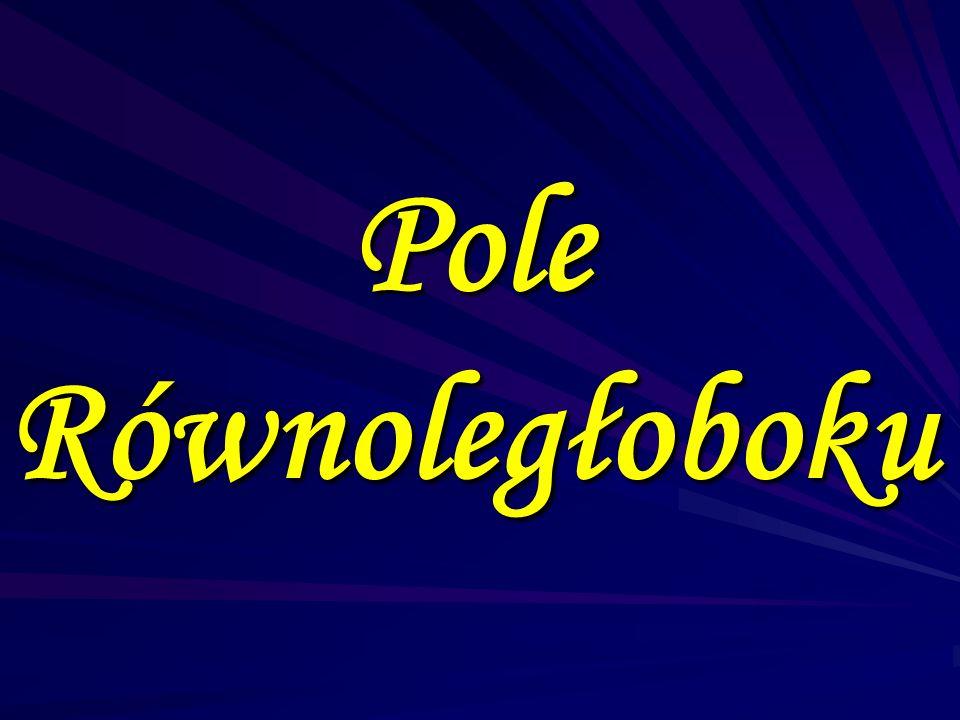 P= a·b P= a·b Czyli iloczynowi długości jego sąsiadujących boków. Czyli iloczynowi długości jego sąsiadujących boków.