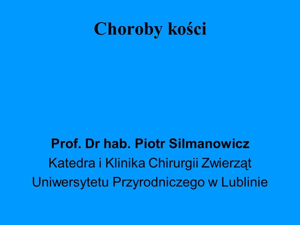 Choroby kości Prof. Dr hab. Piotr Silmanowicz Katedra i Klinika Chirurgii Zwierząt Uniwersytetu Przyrodniczego w Lublinie