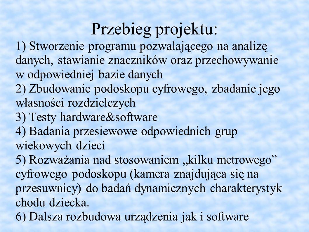 Przebieg projektu: 1) Stworzenie programu pozwalającego na analizę danych, stawianie znaczników oraz przechowywanie w odpowiedniej bazie danych 2) Zbu