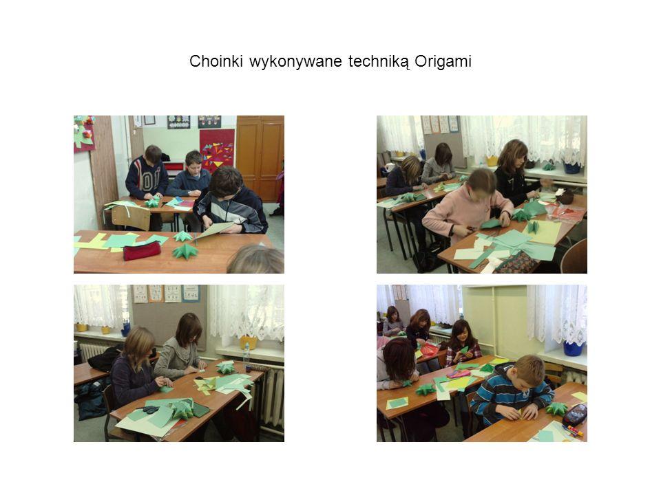 Choinki wykonywane techniką Origami
