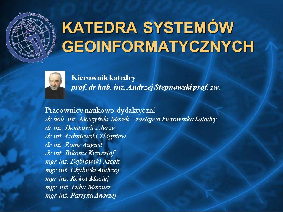 KATEDRA SYSTEMÓW GEOINFORMATYCZNYCH Kierownik katedry prof.
