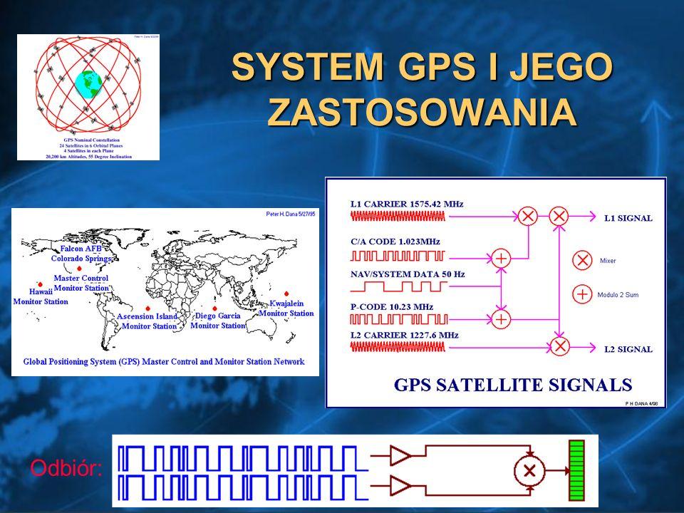 SYSTEM GPS I JEGO ZASTOSOWANIA Odbiór: