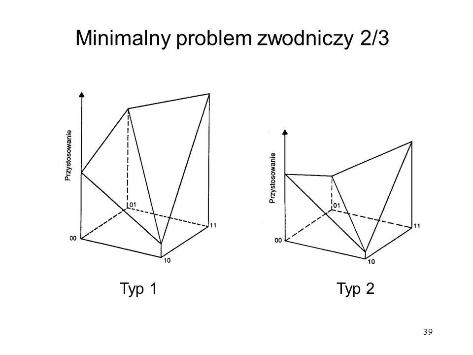 39 Minimalny problem zwodniczy 2/3 Typ 1Typ 2