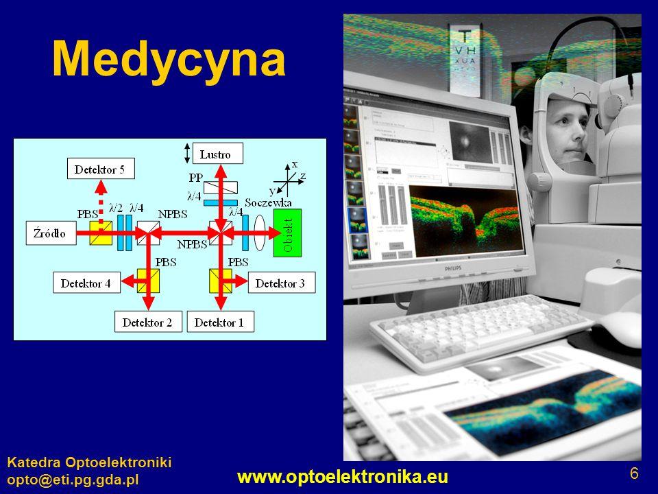 www.optoelektronika.eu Katedra Optoelektroniki opto@eti.pg.gda.pl 6 Medycyna