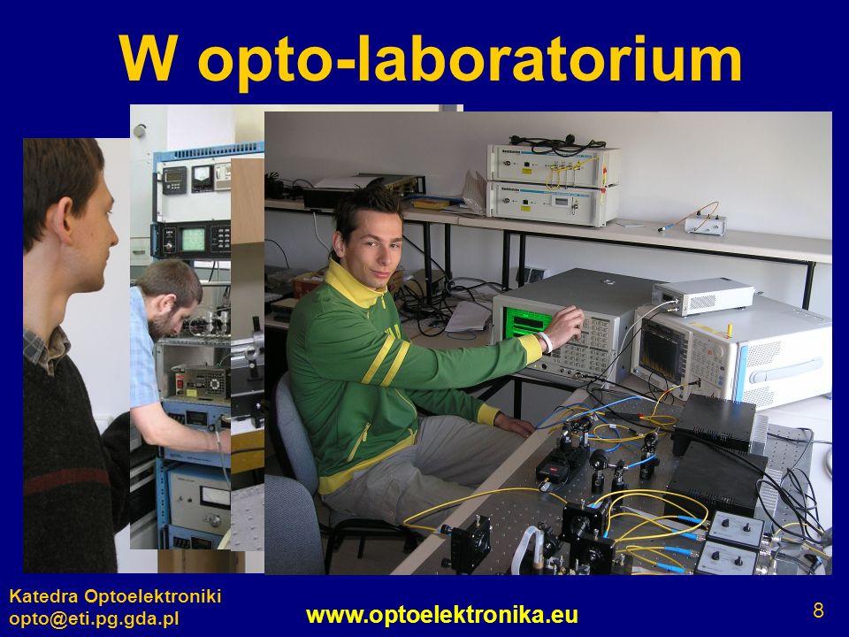 www.optoelektronika.eu Katedra Optoelektroniki opto@eti.pg.gda.pl 8 W opto-laboratorium