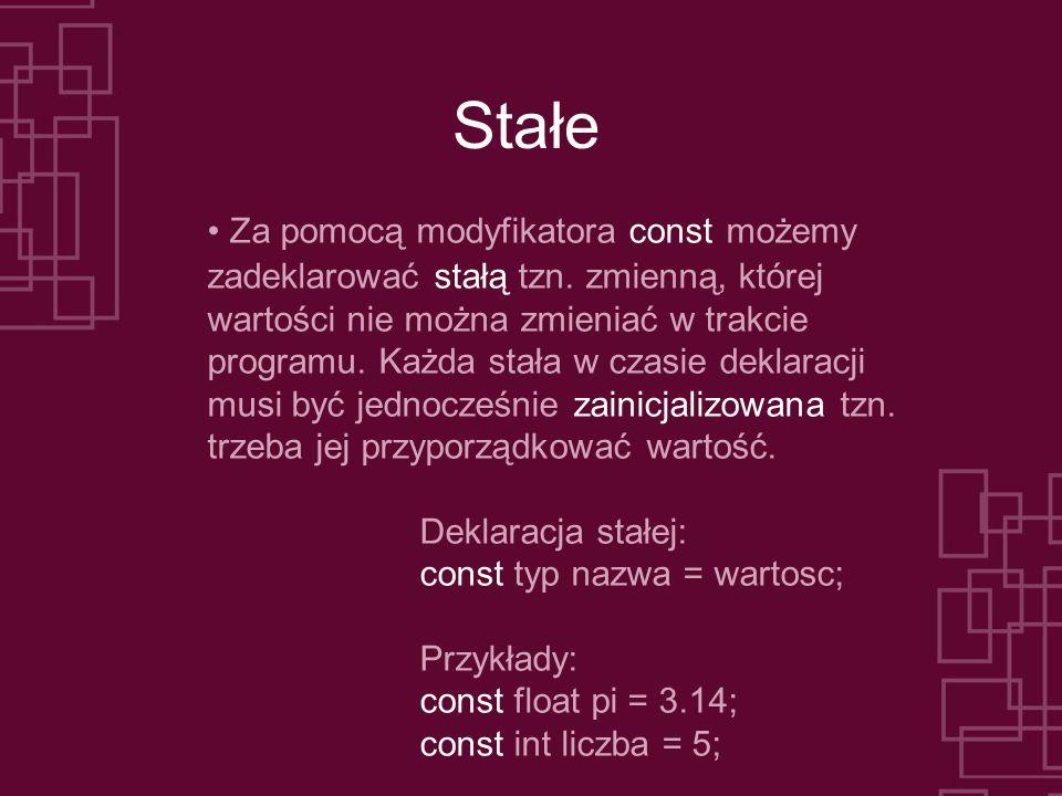 Pętla while (5) Drugi przykład: Program typu zgadywanie liczby.
