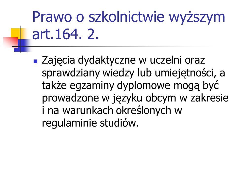 Prawo o szkolnictwie wyższym art.164.2.