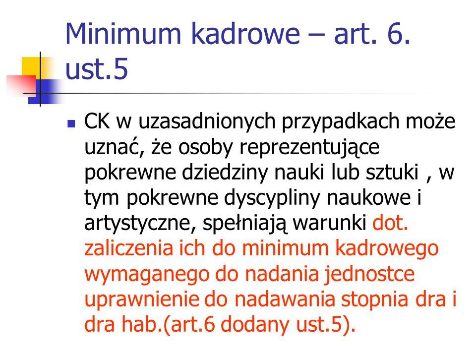 Minimum kadrowe – art.6.
