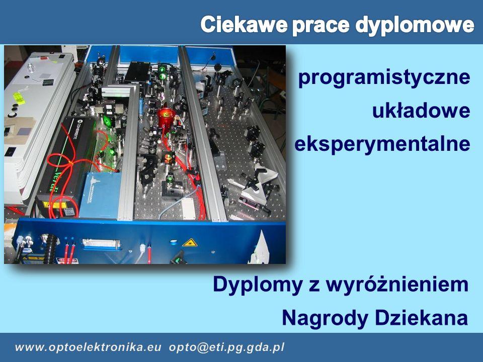 programistyczne układowe eksperymentalne Dyplomy z wyróżnieniem Nagrody Dziekana