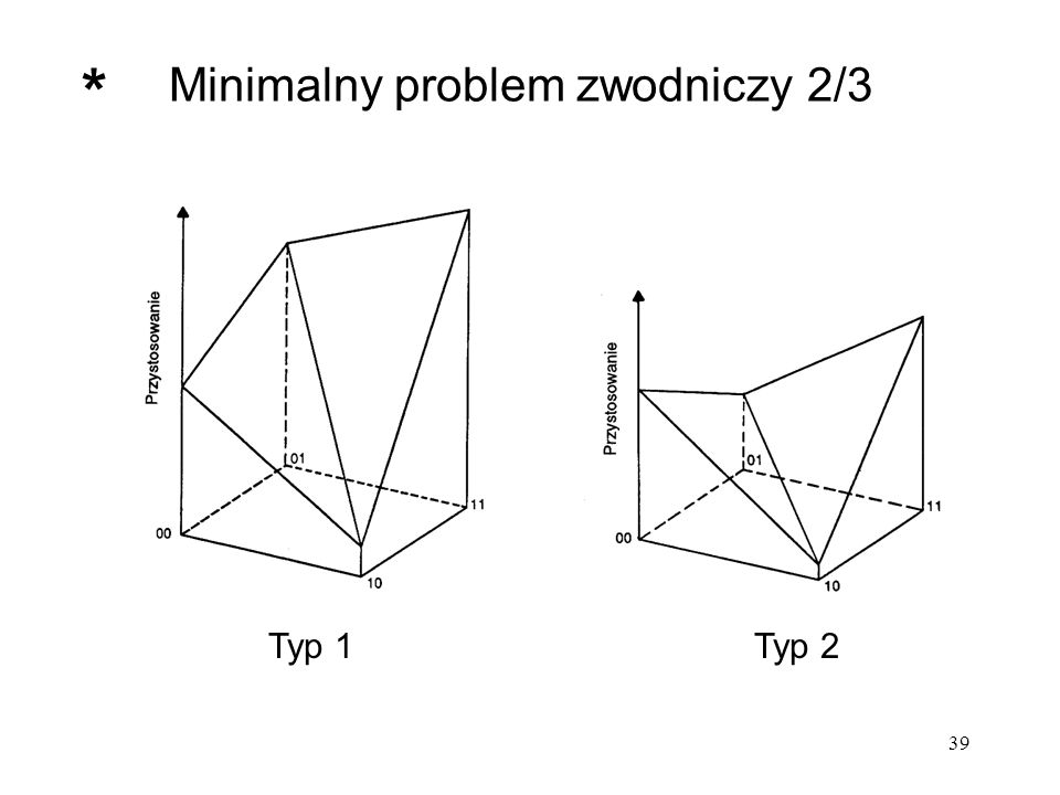 39 Minimalny problem zwodniczy 2/3 Typ 1Typ 2 *