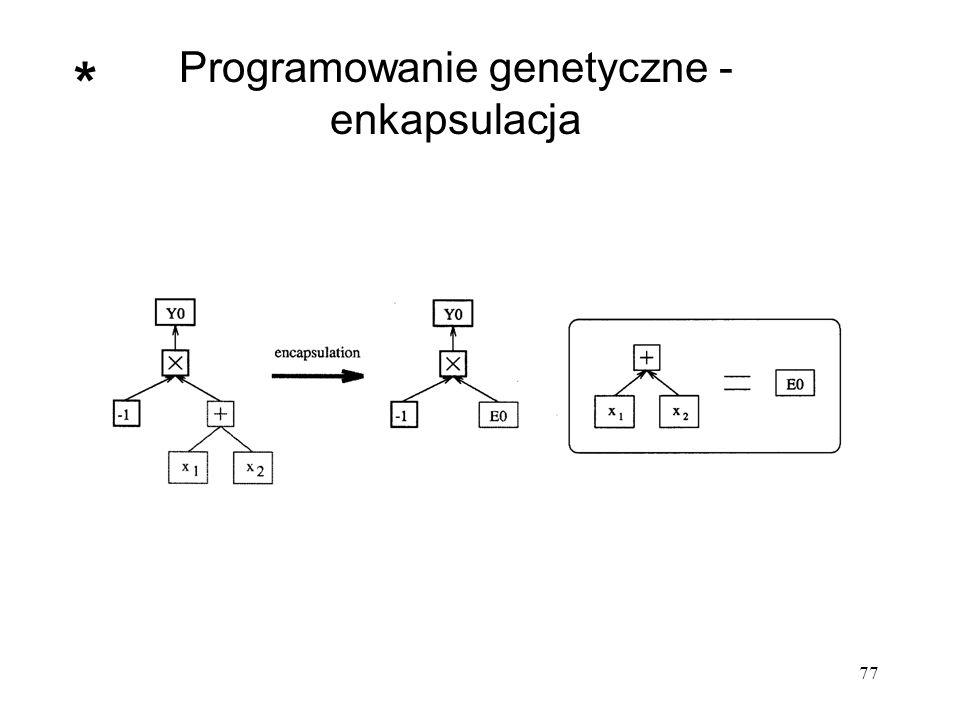 77 Programowanie genetyczne - enkapsulacja *