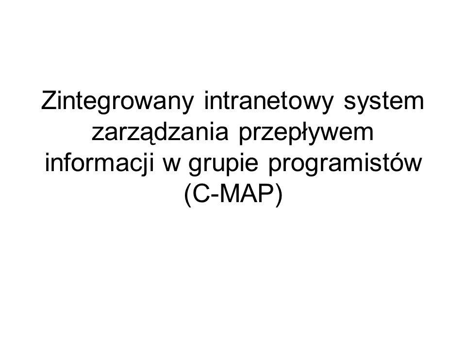 Zintegrowany intranetowy system zarządzania przepływem informacji w grupie programistów (C-MAP)