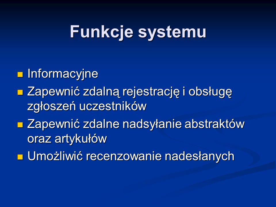 Funkcje systemu c.d.
