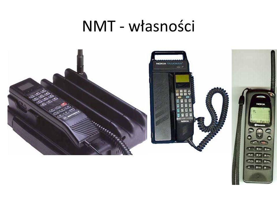 NMT - własności Zakres usług oferowanych przez system NMT jest w porównaniu do nowoczesnych systemów cyfrowych bardzo ubogi i obejmuje: transmisje gło
