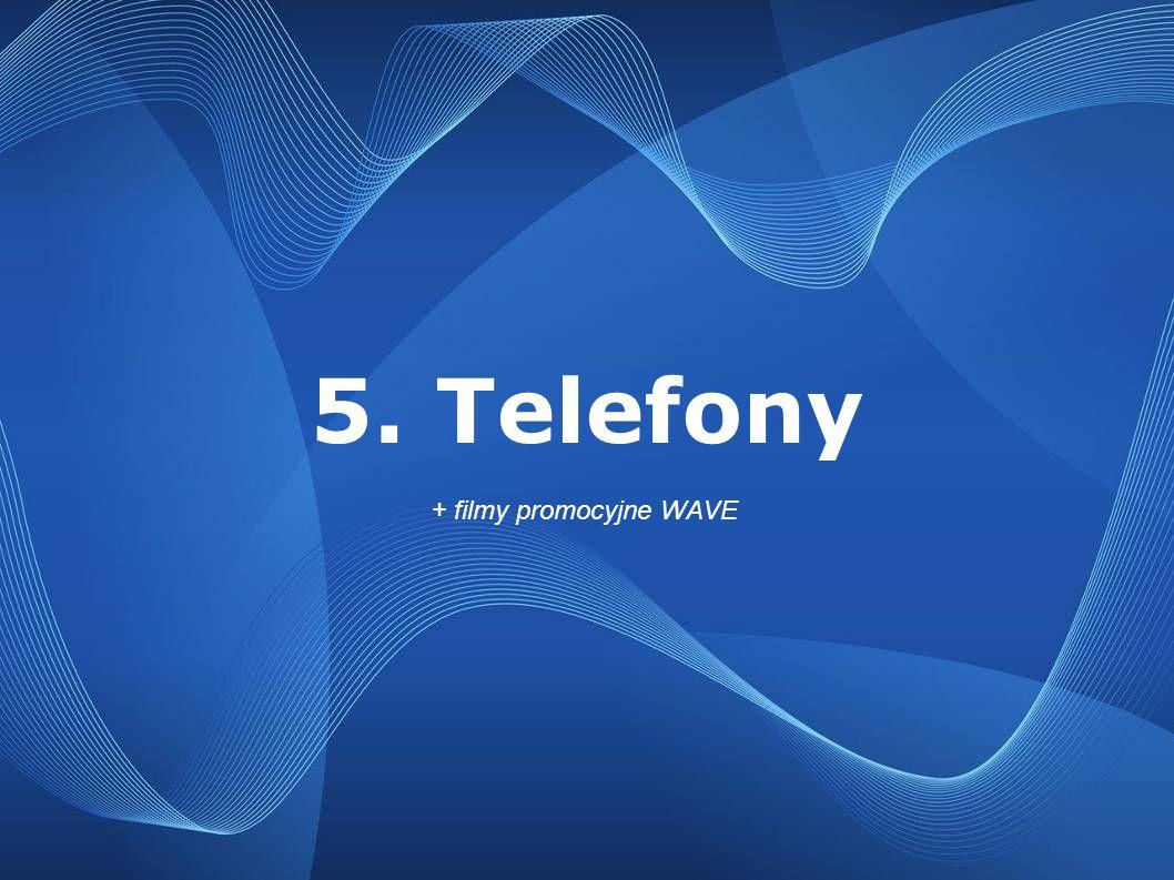 5. Telefony + filmy promocyjne WAVE