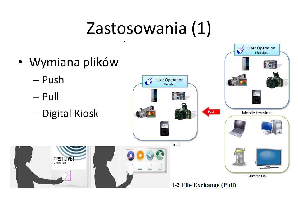 Zastosowania (2) Dostęp do plików w czasie rzeczywistym streaming audio/video Usługi drukowania