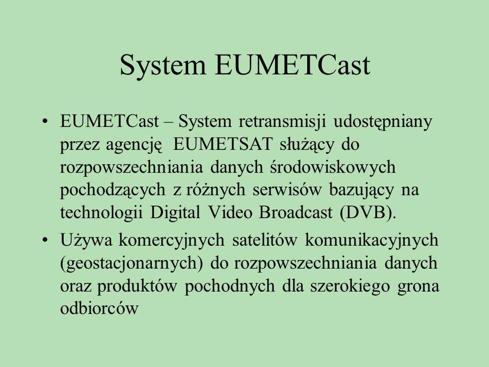 System EUMETCast EUMETCast – System retransmisji udostępniany przez agencję EUMETSAT służący do rozpowszechniania danych środowiskowych pochodzących z