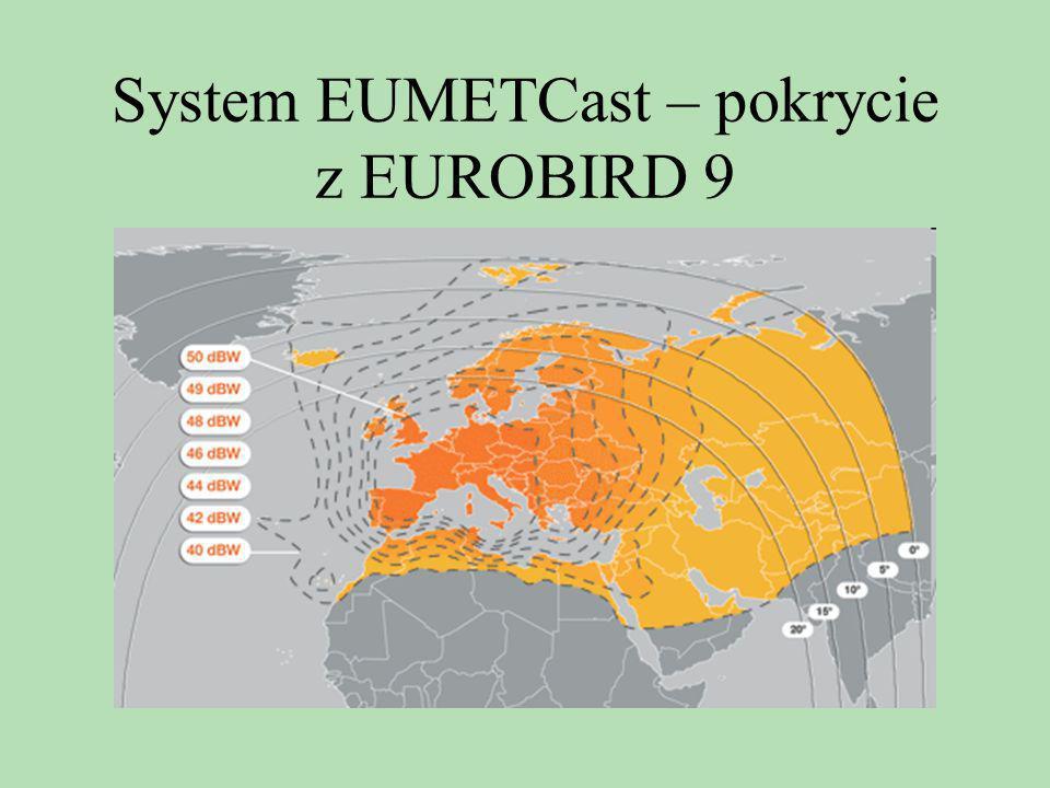 System EUMETCast – pokrycie z EUROBIRD 9