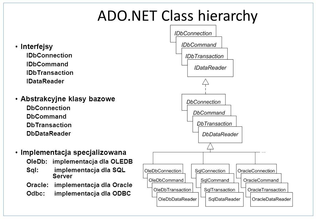 Kontrolki źródła danych ObjectDataSourceUmożliwia połączenie z obiektami logiki biznesowej i innych klas i służy do tworzenia aplikacji webowych które bazują na obiektach warstwy pośredniej do zarządzania danymi.