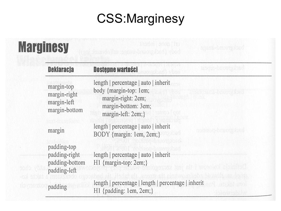 CSS:Marginesy
