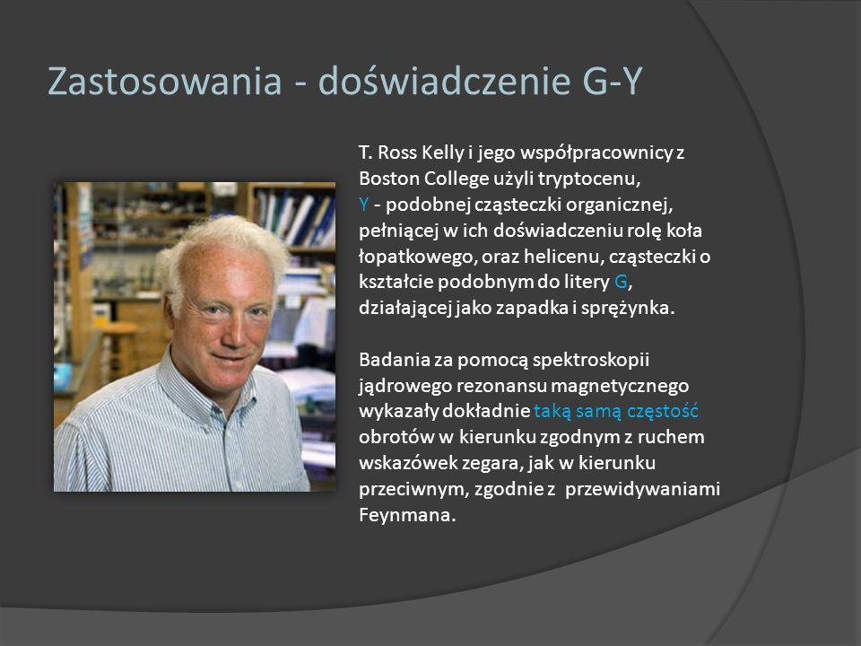 T. Ross Kelly i jego współpracownicy z Boston College użyli tryptocenu, Y - podobnej cząsteczki organicznej, pełniącej w ich doświadczeniu rolę koła ł