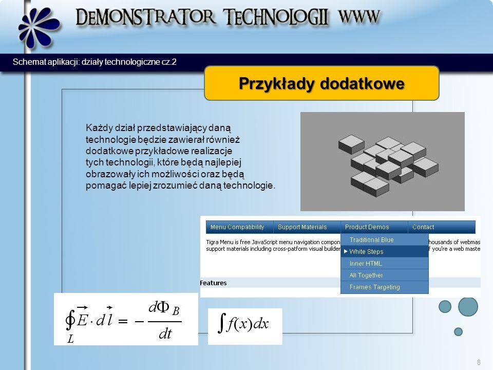 moduły dodatkowe 9 Moduły to pomocne dodatkowe elementy strony, które przede wszystkim pokazują wszechstronne możliwości prezentowanych technologii i są ułatwieniem dla korzystających z serwisu.